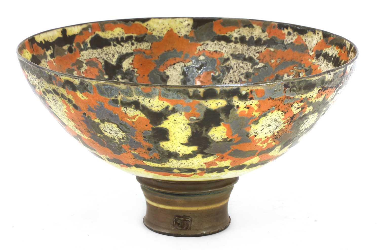 Lot 42-A large studio pottery porcelain bowl