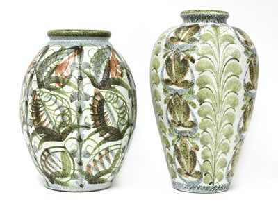 Lot 56-Two Denby stoneware vases