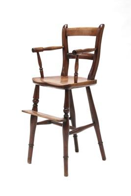 Lot 100 - A beechwood child's high chair