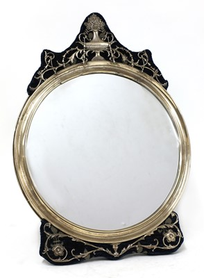 Lot 67 - A silver dressing table mirror