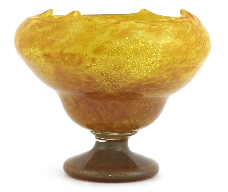 Lot 114 - A Daum pedestal bowl