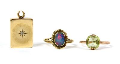 Lot 30-A rose gold single stone yellow chrysoberyl ring