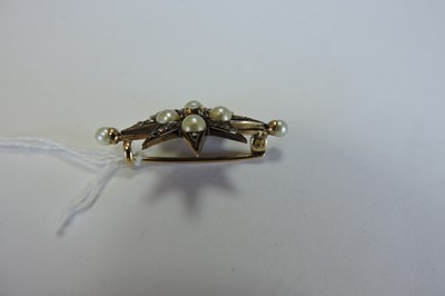 Lot 25-A Victorian diamond and pearl India star
