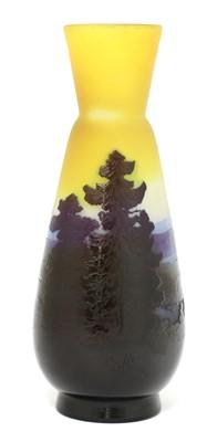 Lot 113 - An Émile Gallé mountain landscape cameo vase