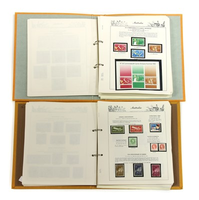 Lot 8-Two albums of Australian mint and used stamps