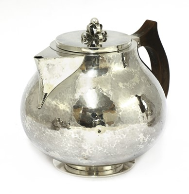 Lot 480 - A Danish four-piece coffee and tea service