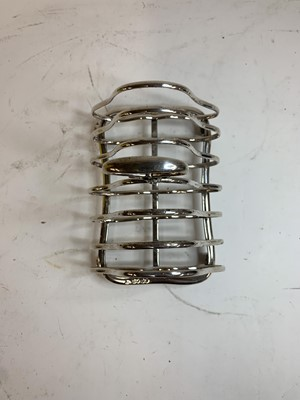 Lot 17-A Victorian six-division toast rack