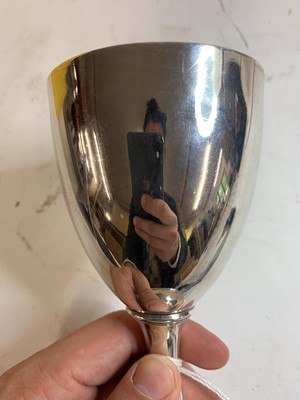 Lot 19-A George III silver goblet