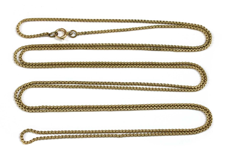 Lot 15-A gilt metal long chain