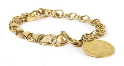 Lot 38-A gold bracelet