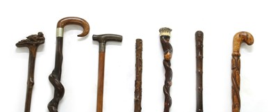 Lot 35 - Seven walking sticks