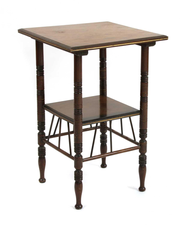 Lot 28 - A walnut side table