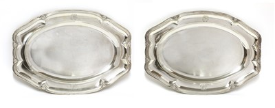 Lot 35 - A pair of French sterling silver serving dishes