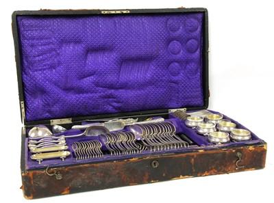 Lot 42 - An Austrian silver cutlery set