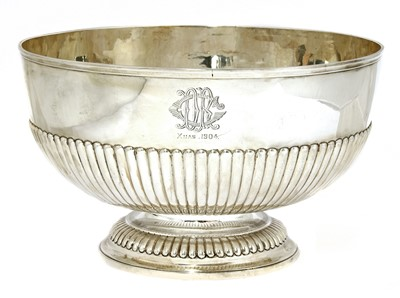 Lot 32 - A Victorian silver rose bowl