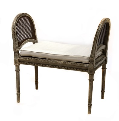Lot 80 - A Continental painted and distressed window seat