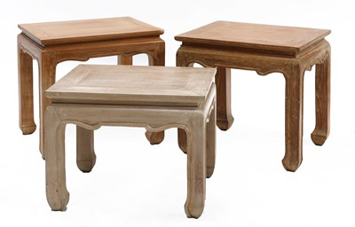 Lot 60 - A pair of modern hardwood low tables