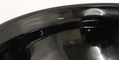 Lot 290 - A Lalique 'Nemours' black glass bowl
