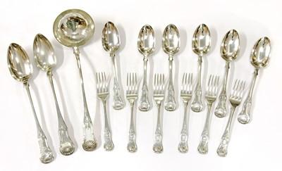 Lot 36 - Edinburgh silver King's pattern cutlery