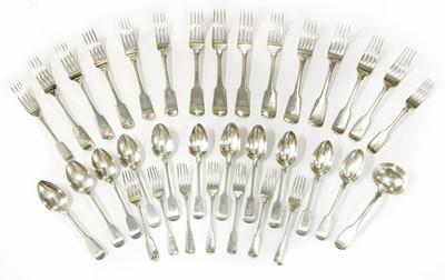 Lot 5 - Silver fiddle pattern cutlery