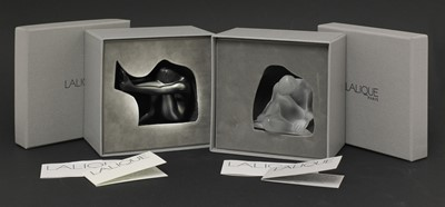 Lot 294 - A Lalique 'Nude Dream' glass paperweight