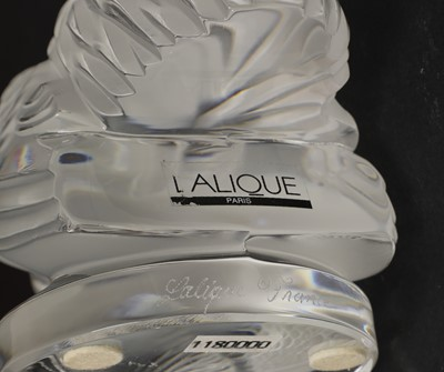 Lot 295 - Two Lalique mascots 'Perche' and 'Coq Nain'