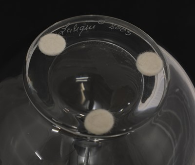 Lot 297 - Two Lalique glass dressing table items