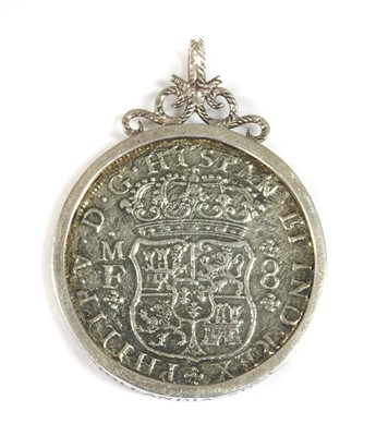Lot 40-A Spanish silver eight Reales Phillip V 1738