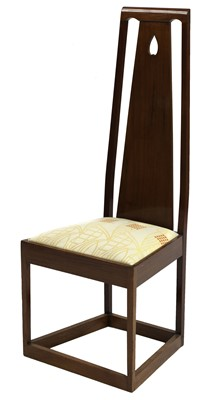 Lot 163 - An Arts and Crafts Glasgow-style mahogany high back chair