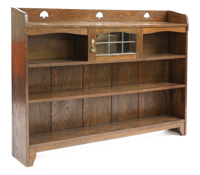 Lot 177 - An Arts and Crafts Liberty & Co. oak bookcase