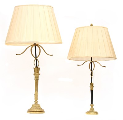 Lot 59 - A French ormolu table lamp