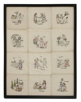 Lot 85 - A collection of twelve cotton doilies