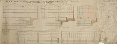 Lot 65 - A unique collection of architectural drawings