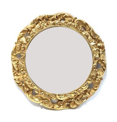 Lot 79 - A circular gilt framed mirror