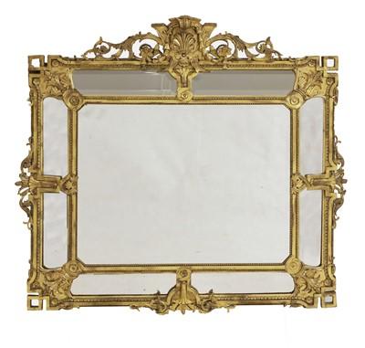 Lot 91 - A large rectangular gilt-framed wall mirror