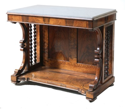 Lot 58 - A Victorian rosewood console table