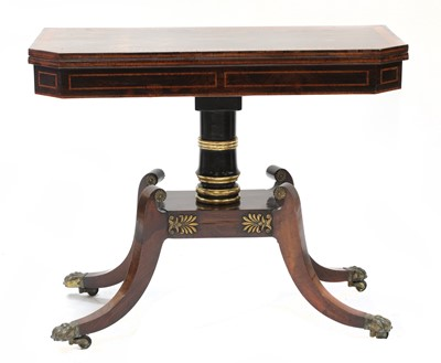 Lot 88 - A rosewood or coromandel card table