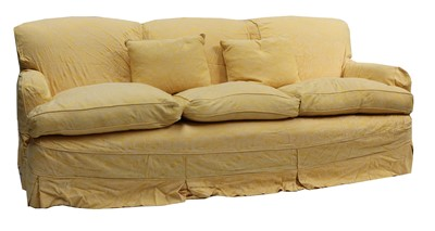 Lot 64 - A pair of three seater sofas