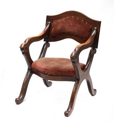 Lot 71 - A Victorian mahogany metamorphic prie-dieu chair