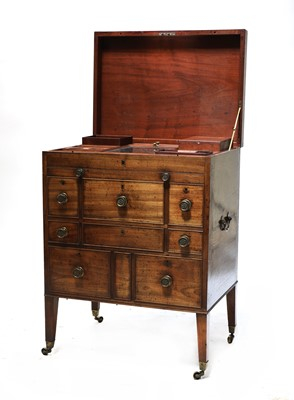 Lot 50 - A mahogany campaign-type dressing chest