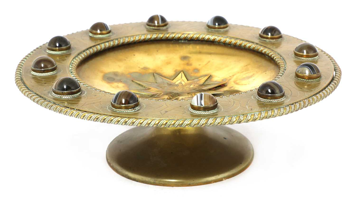 Lot 41-A brass tazza