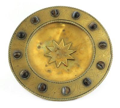 Lot 41 - A brass tazza