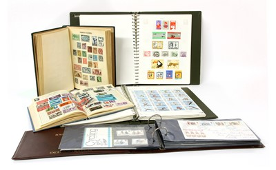 Lot 9-A quantity of world stamps and covers in five albums