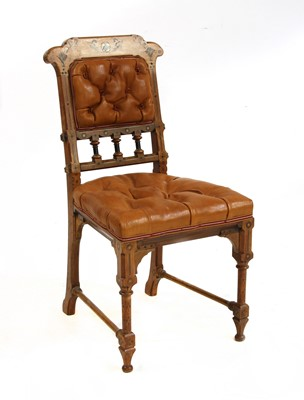 Lot 77 - An inlaid oak side chair
