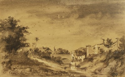 Lot 557 - Attributed to Camille Pissarro (French, 1830-1903)