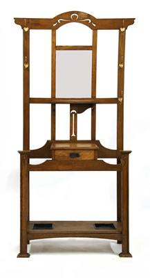 Lot 75 - An Arts & Crafts oak 'Kensington' hall stand