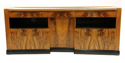 Lot 431 - A Dutch Art Deco walnut and ebonised sideboard