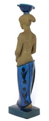 Lot 507 - A Royal Copenhagen glazed stoneware figure of a water carrier
