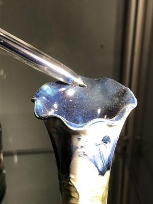 Lot 223 - A 'Cornflower Blue' Macintyre Florian ware vase