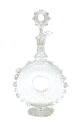 Lot 76 - A Stourbridge glass 'doughnut' decanter